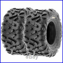Set of 4, 145/70-6 & 19x7-8 Replacement ATV UTV 6 Ply Tires A051 by SunF