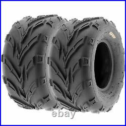 Set of 4, 16x7-8 & 16x8-7 Replacement ATV UTV 6 Ply Tires A004 by SunF