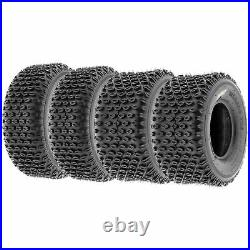 Set of 4, 19x7-8 & 18x9.5-8 Replacement ATV UTV 2 Ply Tires A012 by SunF