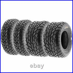 Set of 4, 19x7-8 & 20x10-9 Replacement ATV UTV 6 Ply Tires A021 by SunF
