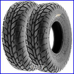 Set of 4, 19x7-8 & 225/45-10 Replacement ATV UTV 6 Ply Tires A021 by SunF