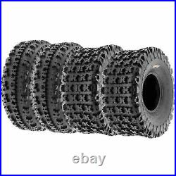 Set of 4, 20x7-8 & 22x10-9 Replacement ATV UTV 6 Ply Tires A027 by SunF