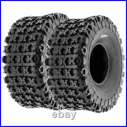 Set of 4, 21x7-10 & 20x10-10 Replacement ATV UTV 6 Ply Tires A027 by SunF