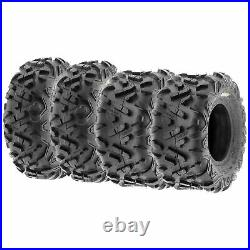 Set of 4, 21x7-10 & 22x10-10 Replacement ATV UTV 6 Ply Tires A051 by SunF