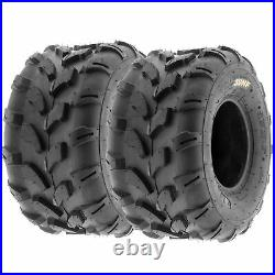 Set of 4, 21x7-8 & 19x9.5-8 Replacement ATV UTV 6 Ply Tires A003 by SunF