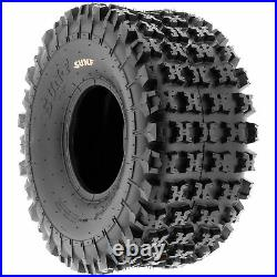 Set of 4, 22x7-10 & 18x10.5-8 Replacement ATV UTV 6 Ply Tires A027 by SunF