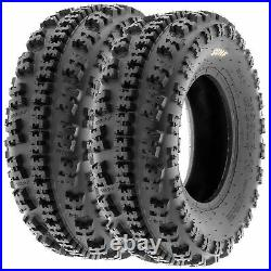 Set of 4, 22x7-10 & 20x10-10 Replacement ATV UTV 6 Ply Tires A027 by SunF