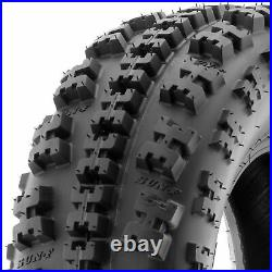 Set of 4, 22x7-10 & 20x11-8 Replacement ATV UTV 6 Ply Tires A027 by SunF