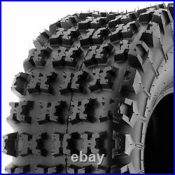 Set of 4, 22x7-11 & 18x10.5-8 Replacement ATV UTV 6 Ply Tires A027 by SunF