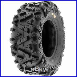 Set of 4, 23x8-11 & 24x9-11 Replacement ATV UTV SxS 6 Ply Tires A033 by SunF