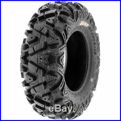 Set of 4, 24x8-11 & 24x10-11 Replacement ATV UTV SxS 6 Ply Tires A033 by SunF