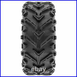 Set of 4, 24x8-12 & 24x10-11 Replacement ATV UTV 6 Ply Tires A041 by SunF