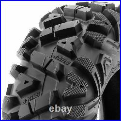 Set of 4, 24x8-12 & 24x11-10 Replacement ATV UTV SxS 6 Ply Tires A033 by SunF