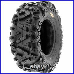 Set of 4, 24x8-12 & 25x11-10 Replacement ATV UTV SxS 6 Ply Tires A033 by SunF