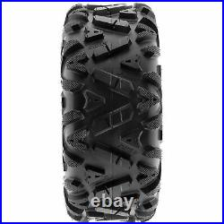 Set of 4, 24x9-11 & 24x11-10 Replacement ATV UTV SxS 6 Ply Tires A033 by SunF