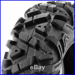 Set of 4, 25x11-10 & 25x10-12 Replacement ATV UTV SxS 6 Ply Tires A033 by SunF