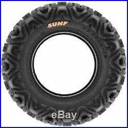 Set of 4, 25x8-11 & 25x10-11 Replacement ATV UTV SxS 6 Ply Tires A033 by SunF