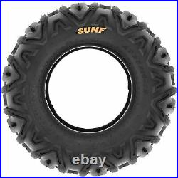 Set of 4, 25x8-11 & 25x10-12 Replacement ATV UTV SxS 6 Ply Tires A033 by SunF