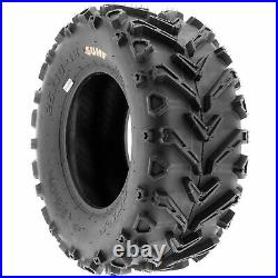 Set of 4, 25x8-12 & 25x10-12 Replacement ATV UTV 6 Ply Tires A041 by SunF