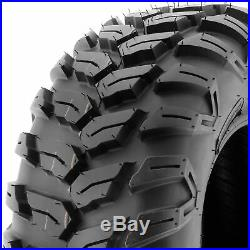 Set of 4, 25x8R12 & 25x10R12 Replacement ATV UTV 6 Ply Tires A043 by SunF