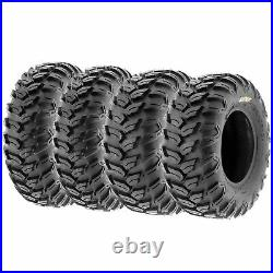 Set of 4, 25x8R12 & 25x10R12 Replacement ATV UTV SxS 6 Ply Tires A043 by SunF