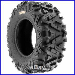 Set of 4, 26x8-12 & 26x11-12 Replacement ATV UTV SxS 6 Ply Tires A033 by SunF