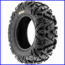 Set of 4, 26x8-12 & 26x9-12 Replacement ATV UTV SxS 6 Ply Tires A033 by SunF
