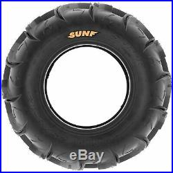 Set of 4, 26x9-12 & 26x11-12 Replacement ATV UTV 6 Ply Tires A048 by SunF