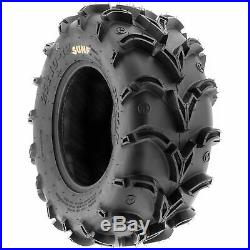 Set of 4, 26x9-12 & 26x11-12 Replacement ATV UTV 6 Ply Tires A050 by SunF