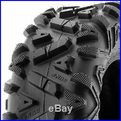 Set of 4, 26x9-12 & 26x11-12 Replacement ATV UTV SxS 6 Ply Tires A033 by SunF