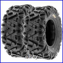 SunF 24x8-12 & 24x10-11 Replacement ATV UTV SxS 6 Ply Tires A033 Set of 4