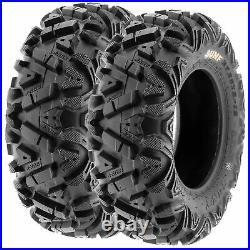 SunF 26x8-12 & 26x11-12 Replacement ATV UTV SxS 6 Ply Tires A033 Set of 4