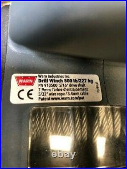 Warn 910500 500 LB Drill Winch With 30 FT Wire Rope -New
